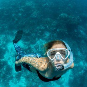 female diver